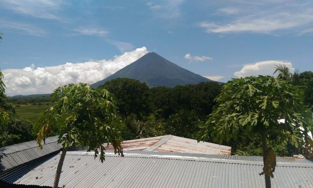 The view from my guesthouse balcony